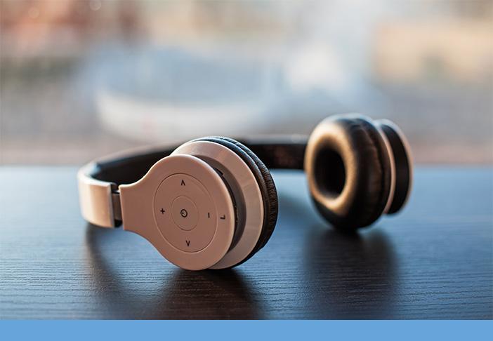 Headphones on a Table Edge