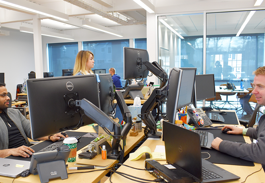 ForeFront Employees Working at Desks