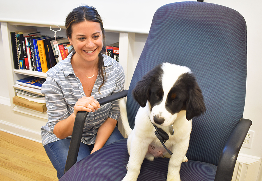 ForeFront Employee & Dog in Office