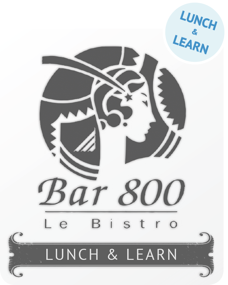 "Bar 800 ""Lunch & Learn"" Sign"