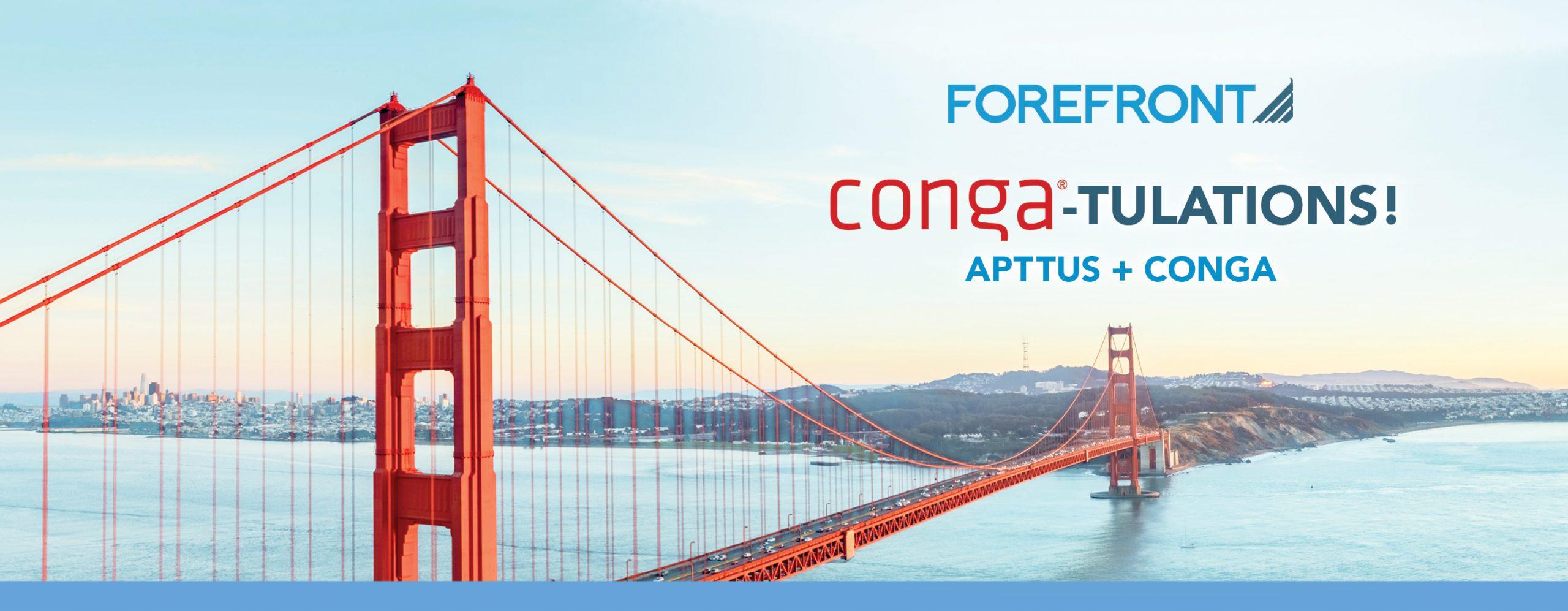 Conga-tulations Apttus + Conga